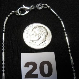 """Jewelry - Sterling silver 925 Bead and Bar neckchain 18"""""""